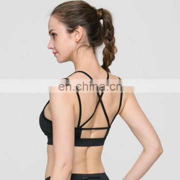 New arrival women sexy hot padded running push up sports bra