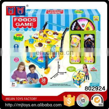 Kitchen toy set colorful DIY birthday cake cutting toy for children