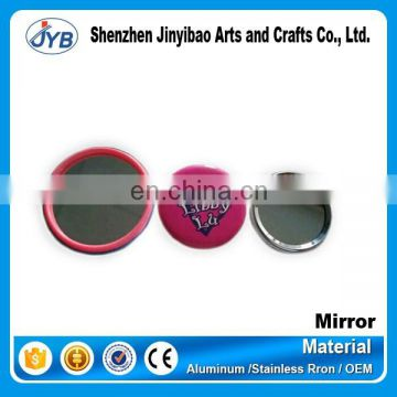 Promotional tinplate cosmetic compact mirror with printed logo