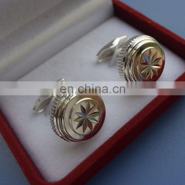 High-grade Packing red Velvet box gold for business as gifts cufflink