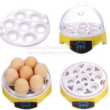 New design small 7 eggs incubator CE approved automatic professional chicken egg hatcheries