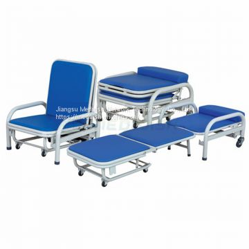 AG-AC003 With PU Mattress Cover Medical Accompany Hospital Nursing Chair