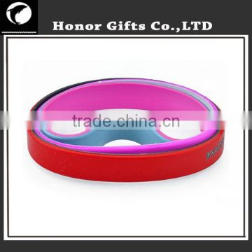 Promotional Item ! Stripe Silicone Wristband/Bracelet/Wrist Band Available Silicone Band