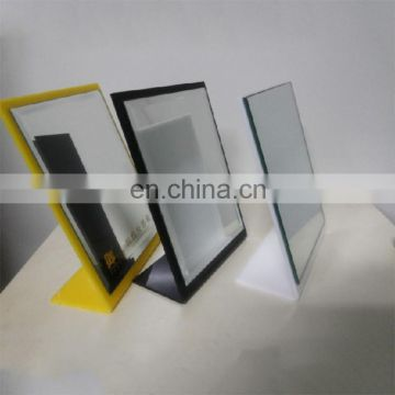 custom L style oblong pmma plexiglass acrylic desktop makeup mirror