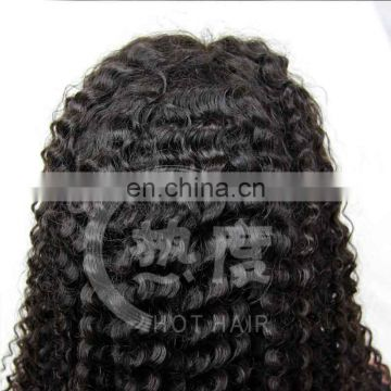 Hot selling high quality afro kinky curly lace front wig indian remy wig