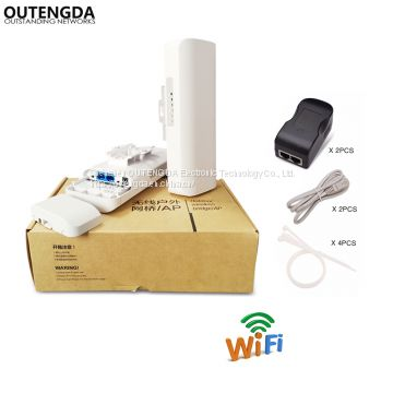 300Mbps 3Km Outdoor CPE AP 5.8Ghz WiFi Bridge Router 1000mW Wireless Wi-fi Repeater 14dBi Antenna 24V Poe Adapter Included