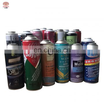 Colorful  printing ring aerosol tin cans for customizaion with spray paint
