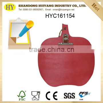 cheap custom writing pad board with clips wholesale