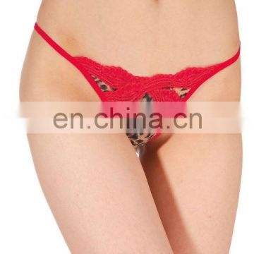 red lace pussy open sexy g-string underwear thongs