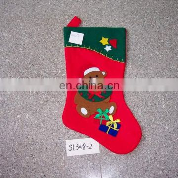 SL3018 felt applique santa stocking