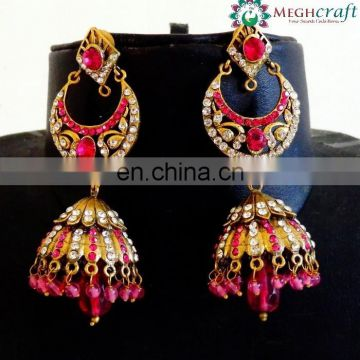 Wholesale Indian Victorian earrings - victorian style earrings - victorian crystal rhinestone earrings - victorian jewelry