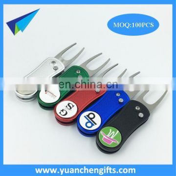 Custom Automatic Retractable Golf Divot Tool and Ball Marker with Custom Logo