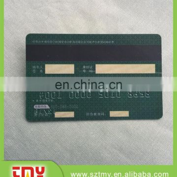 CR80 Standard Size Printed Serial Numbers 128 39 barcode magnetic strip white signature strip pvc card
