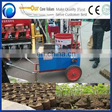 Newest design Plant seedling soil block and hole digging machine