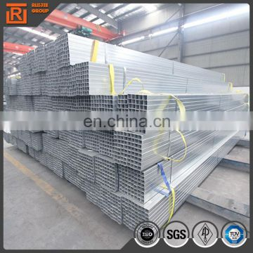 Welded steel tube hollow section square shape galvanized pipes 40*80 mm