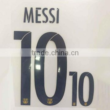 Custom Plastisol Type Soccer Number Heat Transfer Printing For Jerseys With Anti sublimation