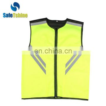 Hot selling good quality yellow reflective breathable mens sport vest