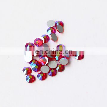 Round flat back ss6 glass rhinestones for clothes decoration