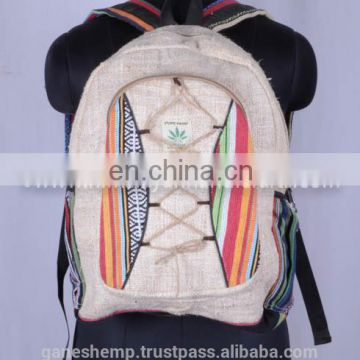 Unique Style Hemp Backpack HBBH 0012