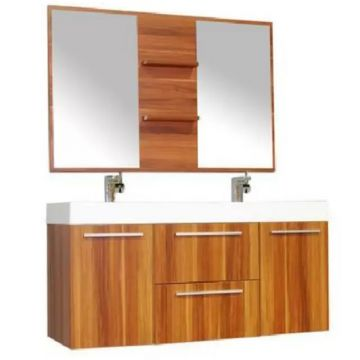 Manufacture price floor mounted laminated MDF bathroom vanity cabinet