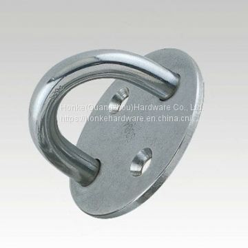 Plate HKS3214 For Sail Boats & Yachts Stainless Steel Round Pad Eye