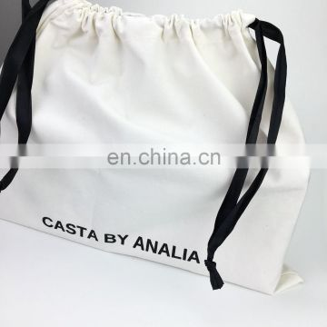 Factory Price Canvas Cotton Drawstring Shoe Bags Cloth Dust Bag, Dustbag for shoes