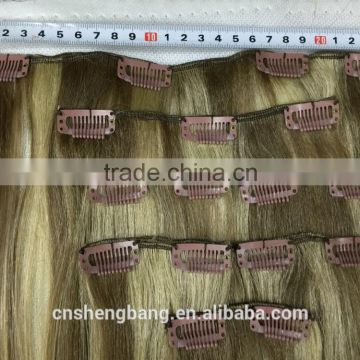 "The Look Gold 22 Synthetic hair weave with clips,7pcs clips on 18"" weave,17clips/100g/pcs ,color P18-22"