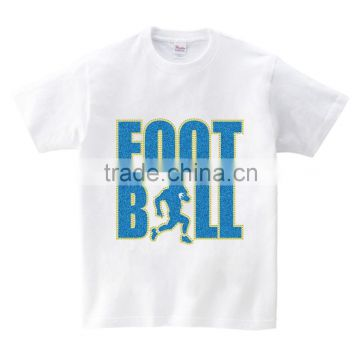 custom football lover motif men gender glitter cotton Tshirt printing design