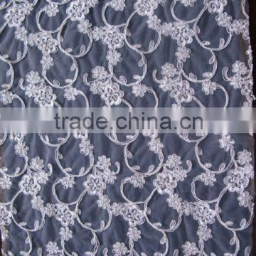 embroidered tulle LACE FABRIC