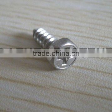small size hex head PH tapping screw SS