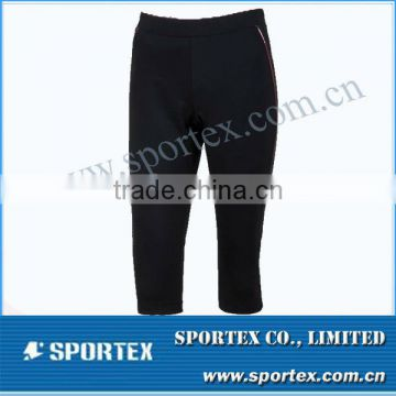 Comfortable body cut Sportex 3/4 compression,ladies 3/4 compression, ladies compression pantOEM#OM1310