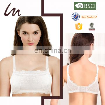 Top Grade Fashion Hot Sell Breathable Spandex / Cotton New Brands Model Ladies Bra