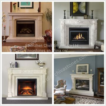 Decoration Fireplace Hand Natural Surround Carved Home 3FcuK1TlJ