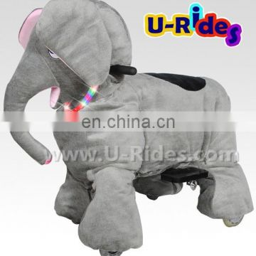 Assembled toy Little elephant electric walking super animal with coin operated