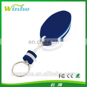 Oval shaped Baltic foam floating key holder