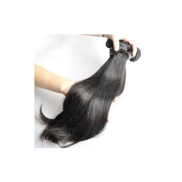 Natural Wave Clip Double Wefts  In Hair Extensions Russian