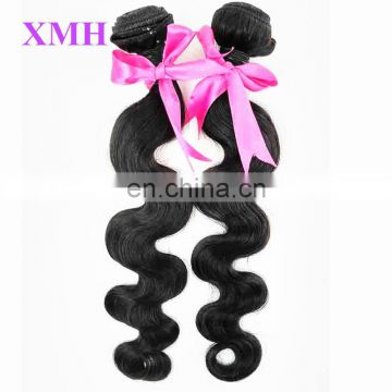 XMH Wholesale 100% Brazilian in Stock Virgin Human Hair Extensions
