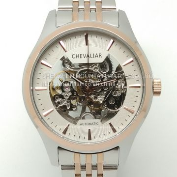 Genuine leather watch stainless steel watch fashion watch mechanical watch