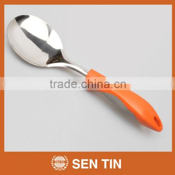 KU-A01TPR Stainless Steel Rice Spoon with PP & TPR handle Kitchen Tool