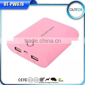 Hot Universal Dual Usb 18650 Battery Power Bank' Travel Charger For Blackberry