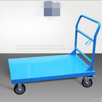 Warehouse Trolly Flatbed Transportation Steel Cart Distribution