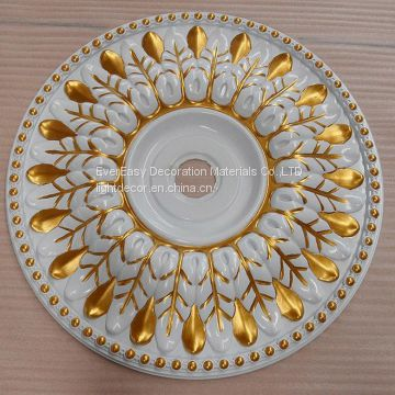 Polyurethane PU Ornaments LED ceiling light lamp decoration