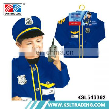 Fine workmanship high quality kids police costume for boys