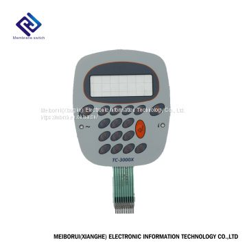 Embossed button transparent window membrane switch for electronic scales