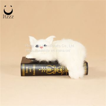 2019 hot selling home decor cat furry simulation animals cat toy