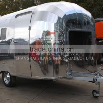 SILANG Catering Trailer Stainless steel food truck Mechanical brake