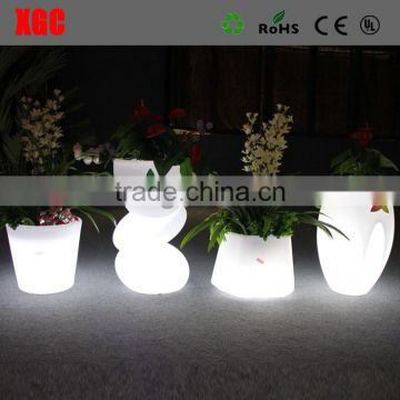 decorative indoor flower pots colored led GD101
