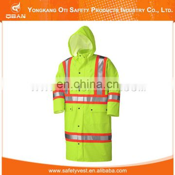 Direct Factory Price Fashion Secure Waterproof Plastic Raincoat