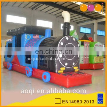 Best price large inflatable train fun city baby funny jumps inflatable indoor playground on sale