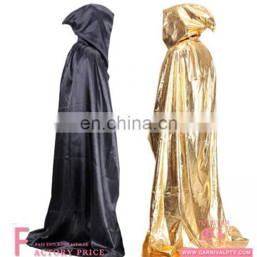 4 Colors Hooded Long Cloak Cape Halloween Robe Wedding Witch Wicca costume